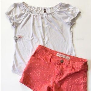 Vintage Little Girl's White Top, 'Knit Works'